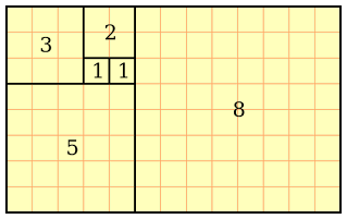 Fibonacci squares in a rectangle