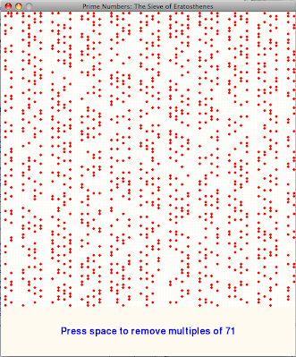 Illustrating the Sieve of Eratosthenes with a Python program